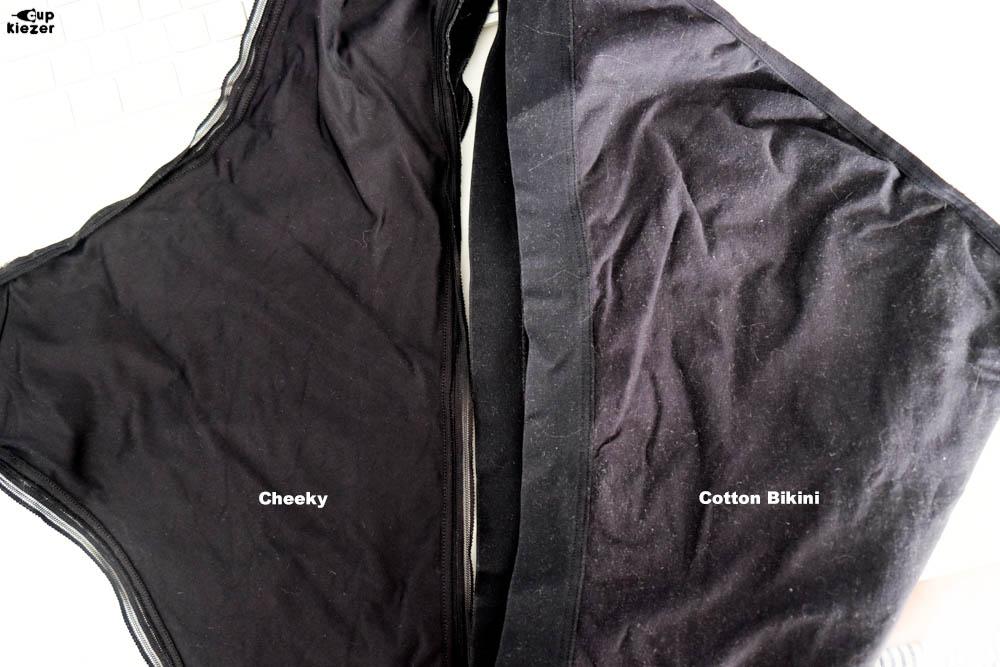 Cheeky vs Cotton bikini na één keer wassen
