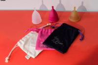 Je moet je menstruatiecup bewaren in het tasje wat je erbij krijgt