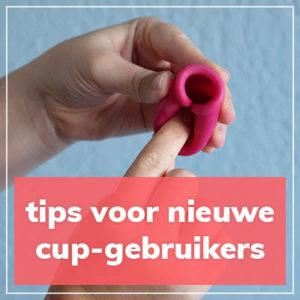 Tips voor nieuwe menstruatiecup gebruikers