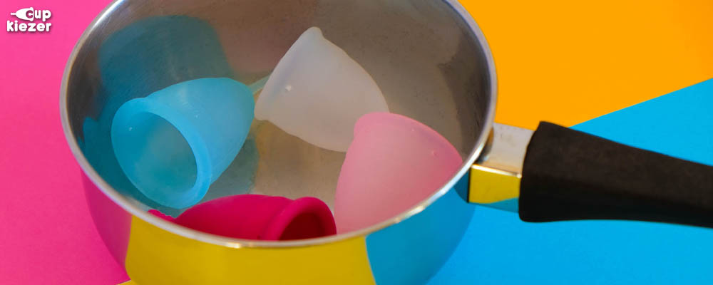 Menstruatiecup schoonmaken door uitkoken in pan