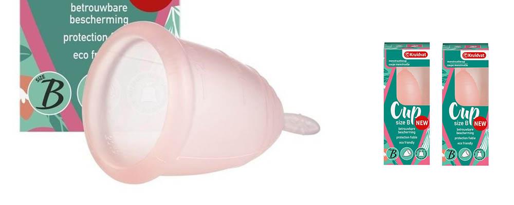 Kruitvat verkoopt nieuwe eigen menstruatiecup