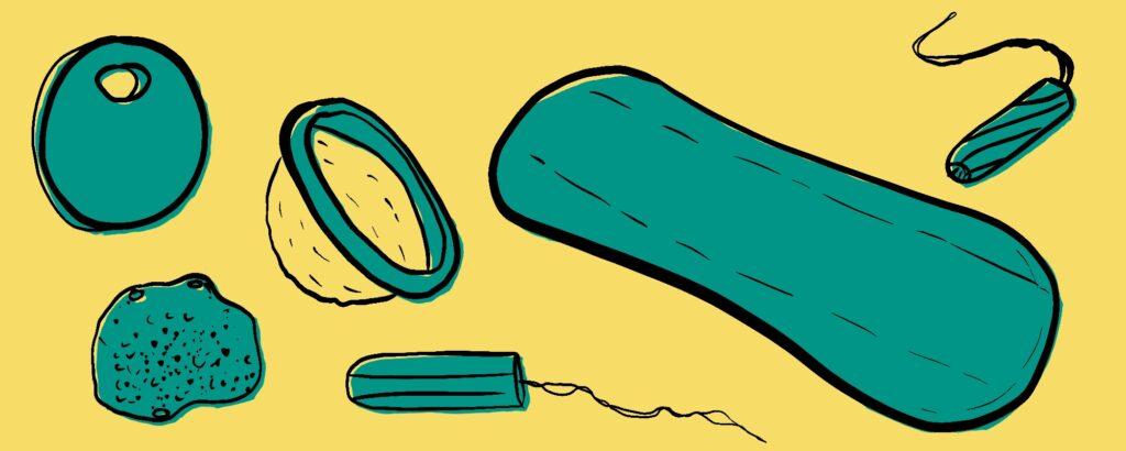 Alle niet duurzame wegwerp menstruatieproducten